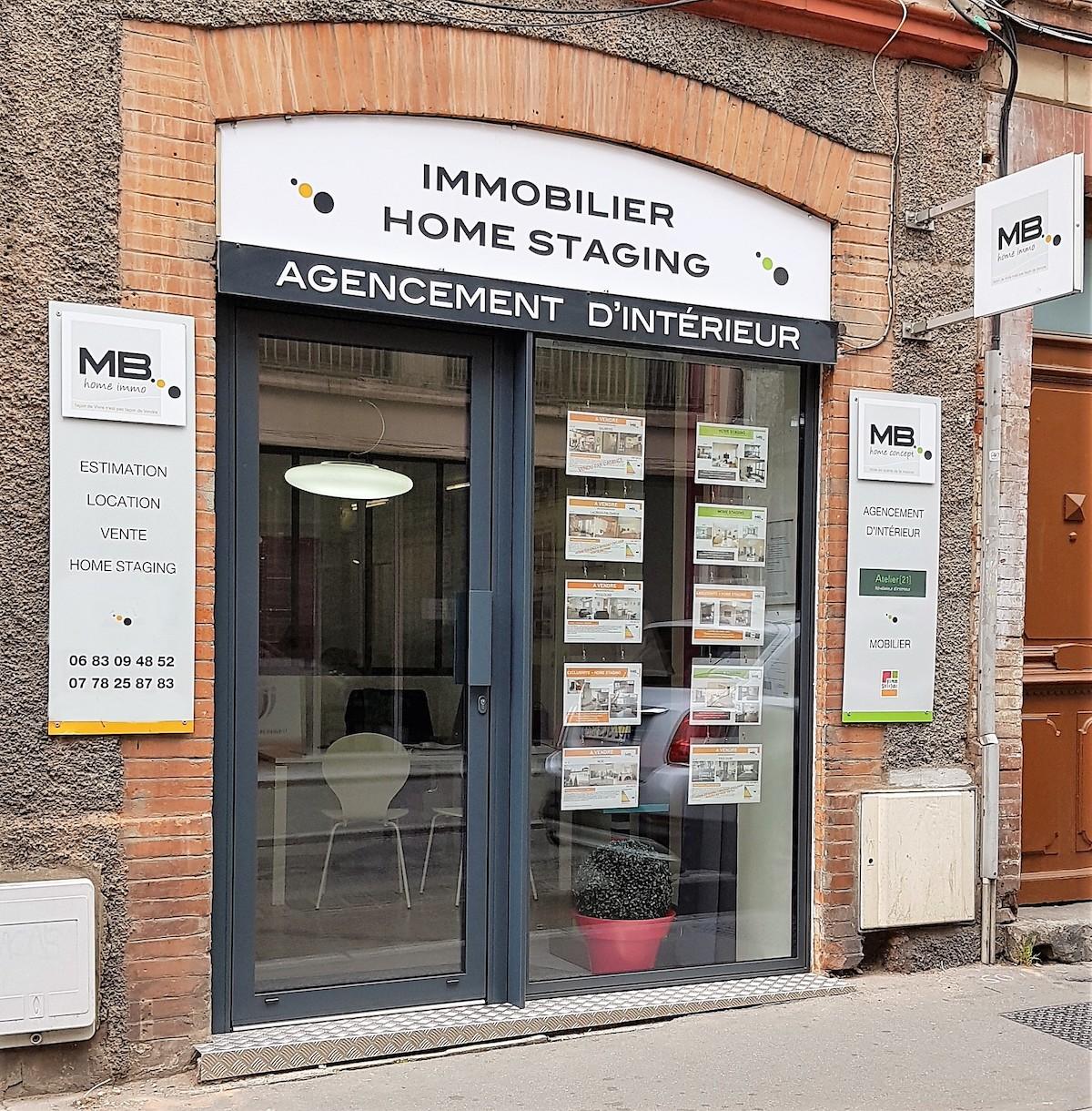 Vitrine de l'agence MB Home Concept à Toulouse